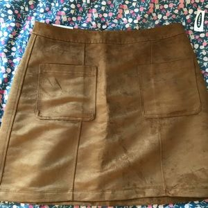 NWT Old Navy Faux Suede Tan Skirt